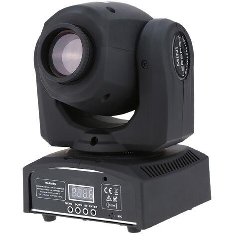 Lixada DMX-512 Mini luz de cabeza movil, luz de escenario LED