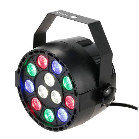 Lixada, DMX512 RGBW LED Stage PAR Luz estroboscopica, 8 canales, 15W CA 100-240V