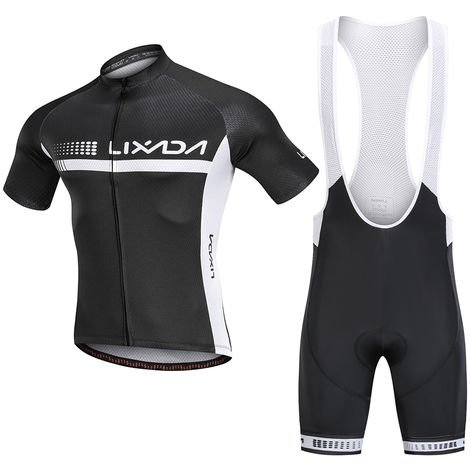 Lixada Ete Cyclisme Maillot Manches Courtes Velo Chemise Et Rembourre Cuissard Respirant Vtt Velo Equitation Velo Costume Velo, S