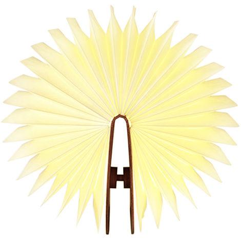 Lixada LED rechargeable Folding Light Book 4.5W 500lm a pile changeable Forme Table de chevet Lampe etage plafond eclairage pratique et beau Fixture utilisation d'interieur blanc chaud