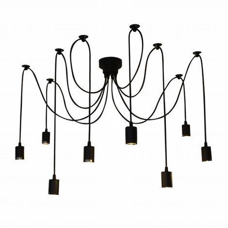 Lixada, luz de la lampara de arana de techo, E27, 8 brazos (cada uno con cable de 1,7 m)