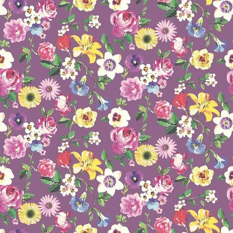 Lizzie Floral Wallpaper Holden Pink Purple Red Yellow Lilac Paste The Wall