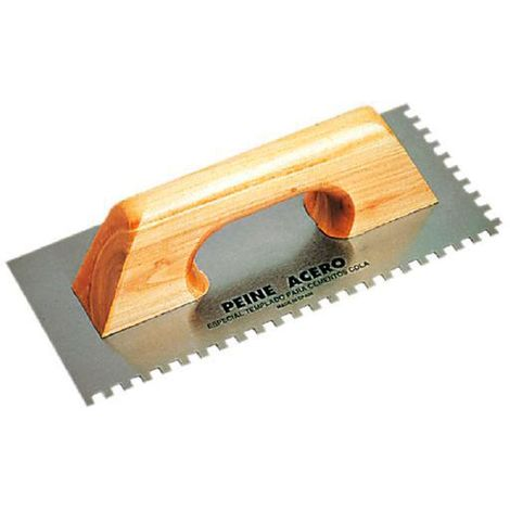 Llana rectangular dentada rubi - varias tallas disponibles