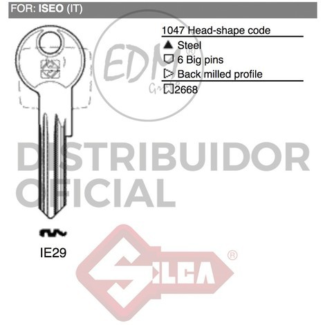 Llave Acero Ie29 Iseo - NEOFERR