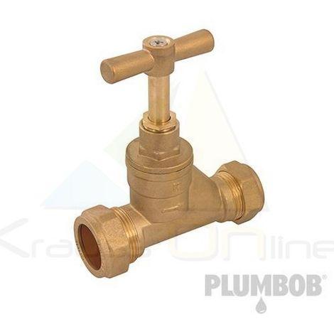 Llave de paso con doble salida (Plumbob-345057)
