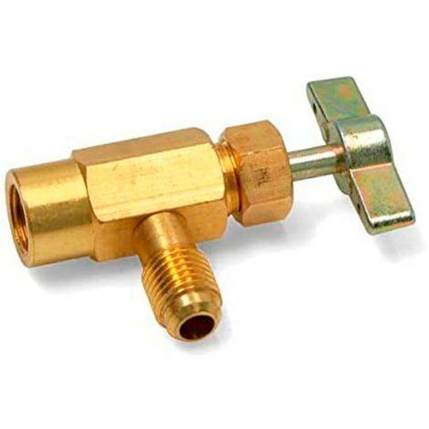 Llave de servicio para envases GASICA V2 y D2 1/2 roscar derecha 1/4 16UN834
