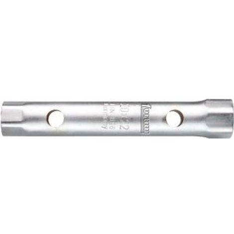 Llave tubo, lado e/planos : 21 x 23 mm, Largo 185 mm, para Ø de broca 12 mm