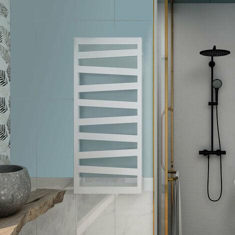 LLAVISAN L305834 KAREY Secatoallas toallero eléctrico Blanco blanco mate