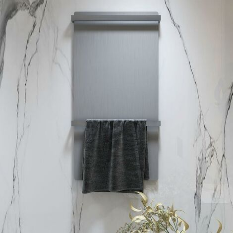 LLAVISAN L305864 ENZO Secatoallas toallero eléctrico gris aluminio