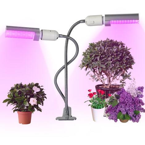 Llevado crece la luz Grow bombilla de la lampara, para las plantas de interior, 20W, 100 LEDs, Sunlike rojo y azul del espectro