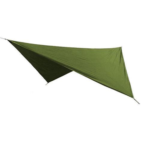 Lluvia mosca Parasol Toldo de Vela, resistente a los rayos UV, verde del ejercito