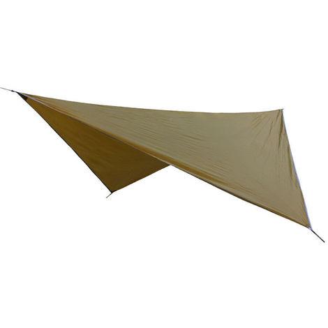 Lluvia mosca Parasol Toldo de Vela UV y resistente a prueba de agua para trabajo pesado Rombo de arena Sombrilla para patio al aire libre, de color caqui