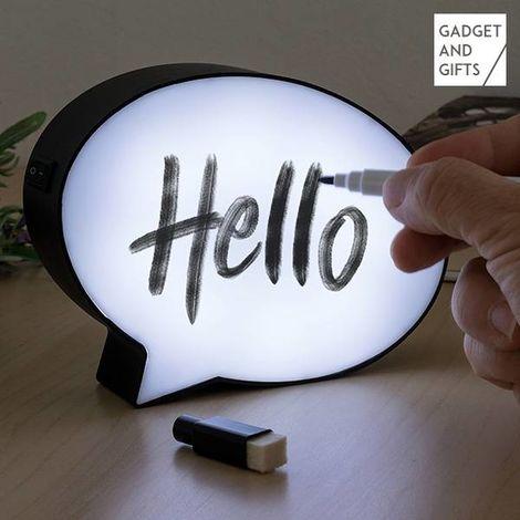 L?mpara LED Bocadillo con Rotulador Gadget and Gifts