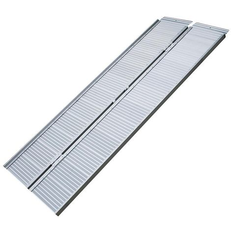 Loading ramp aluminium foldable for wheelchair 122x73cm 270kg