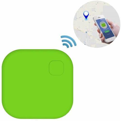 Localisateur d'objets,Opamoo GPS Tracker Clé Bluetooth Téléphone / Wallet Key Finder Anti-Perte Alarme de Localisation Tracker Pet Locator avec Télécommande de Caméra pour Android et iOS–Vert