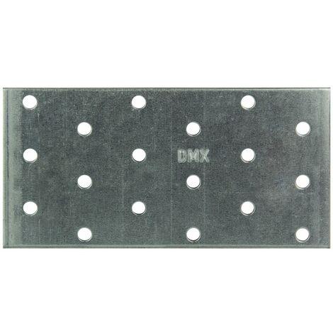 Lochplatte 60x120x2.0 mm Metallplatte Rispenband Lochwinkel Flachverbinder