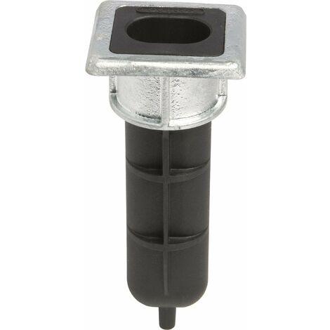 Locinox EGS Butée de sol pour barre de barre VSF, 70 x 65 x 6 mm, hauteur 166,5 mm, noir galvanisé, 65 x 70 x 166,5 mm