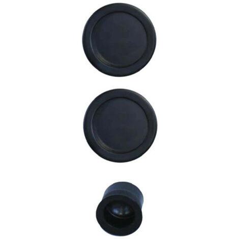 Lock kit for roller shutter door - duck spout - black