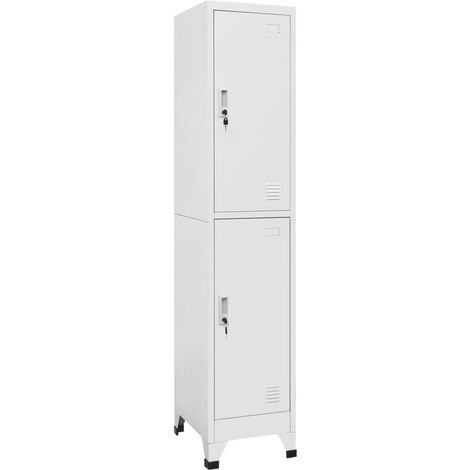 """main image of """"Locker Cabinet with 2 Compartments 38x45x180 cm - Grey"""""""