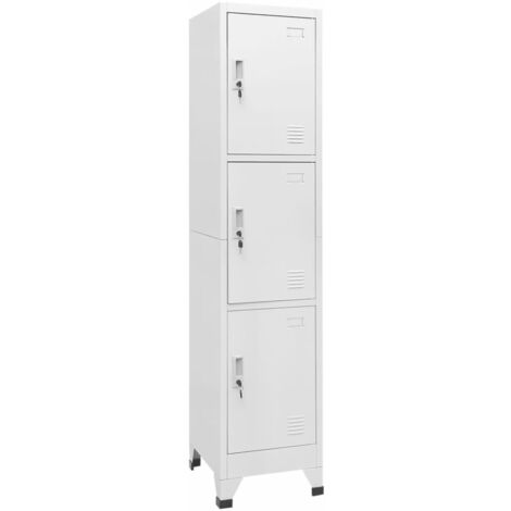 Locker Cabinet with 3 Compartments 38x45x180 cm