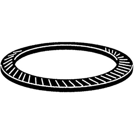 Locking disc spring type S Spring steel Zinc plated with thick Cr(III) passivation M18 - M30