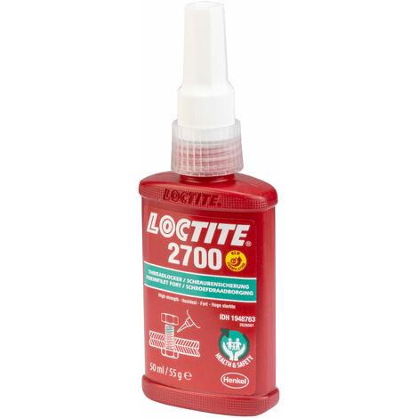 "main image of ""Loctite 1948763 2700 Health & Safety Friendly High Strength Threadlocker 50ml"""