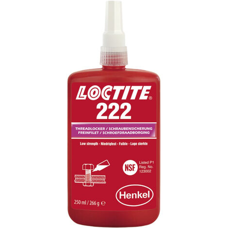 Loctite 222 Low Strength Threadlocker All Metal Adhesive Glue 250ml 142486