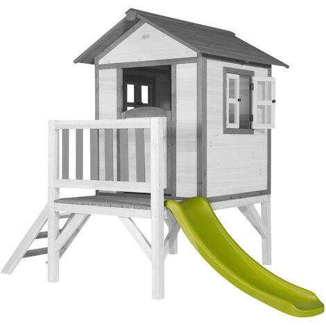 Lodge XL Playhouse: Maisonnette pour enfants, fenêtres intégrées et bois très résistant