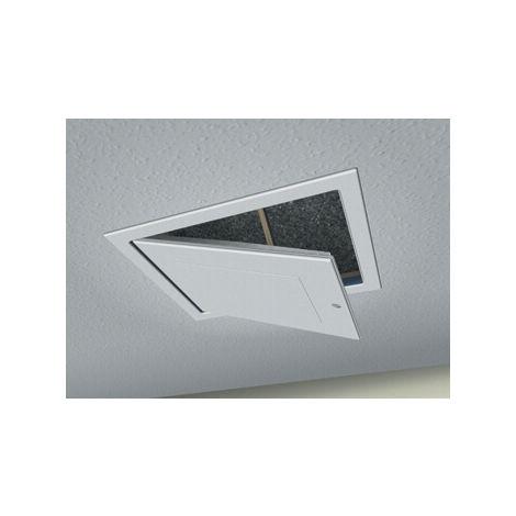 Loft Access Door Drop Down - 562mm x 726mm White Textured Finish