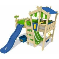Loft bed with slide Wickey CrAzY Hutty