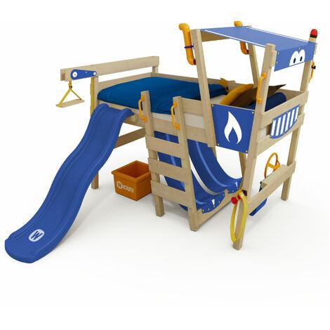 Loft bed with slide Wickey CrAzY Smoky