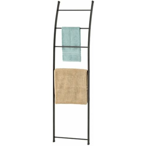 Loft Freestanding Towel Ladder & Rack, Black
