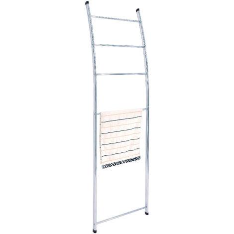 Loft Freestanding Towel Ladder & Rack, Chrome