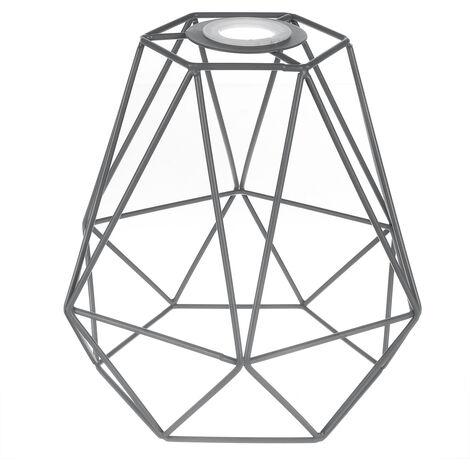 Loft Single Pendant Modern Nordic Diamond Ceilling Light Lampshade Cover Grey Not include lamp