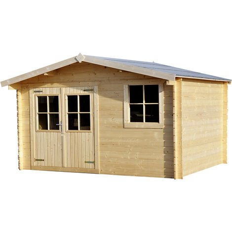 LOG CABIN 13ft (3.88M) X 10ft (2.98M),28MM