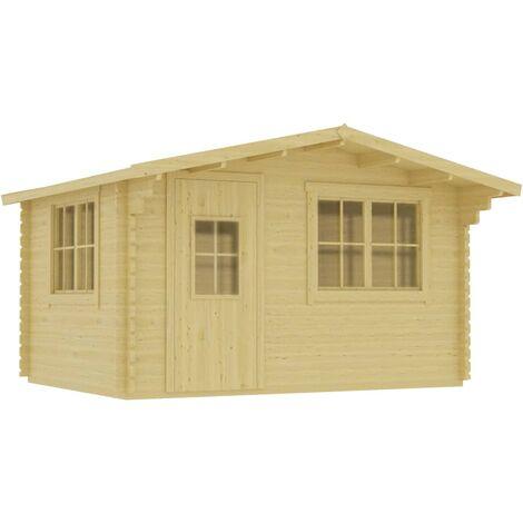 Log Cabin 44 mm 400x376x243.5 cm Solid Pinewood