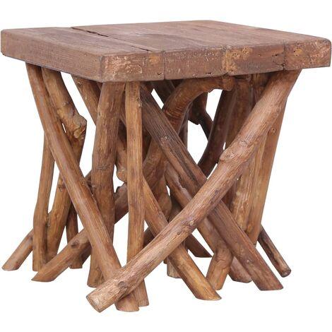 Log Coffee Table 40x40x40 cm Solid Wood - Brown