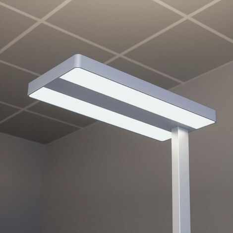 Logan LED office floor lamp with dimmer