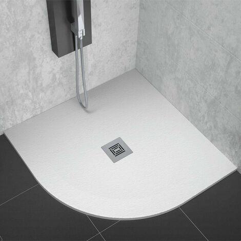 Logic blanco plato de ducha semicircular