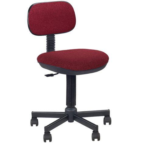 """main image of """"Logica- chaise de bureau en tissu, sans accoudoirs. Dossier reglable. Hauteur reglable. Bordeaux."""""""