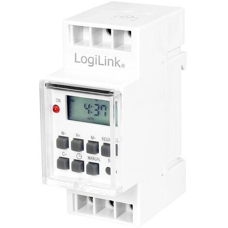 LOGILINK ET0010 MINUTEUR ÉLECTRIQUE PROGRAMMATEUR JOURNALIER/HEBDOMADAIRE BLANC