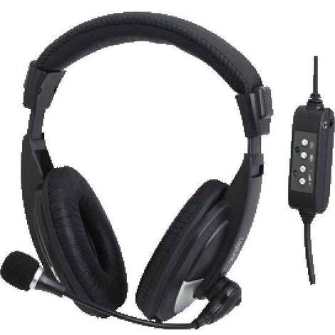 LogiLink HS0019 Binaural Kopfband Schwarz Headset HS0019