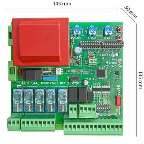 Logique de commande monophasée universelle 230V pour 1 ou 2 moteurs automatisation de portail Start-S4XL