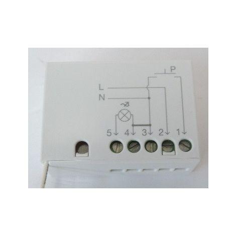 Logique de commande pour lampe 230V 250W récepteur radio intégré fonction Marche / Arrêt et variateur NICE TTDMS