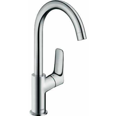 Logis 210 Mitigeur lavabo bec haut bec orientable sur 120° sans tirette ni vidage chromé
