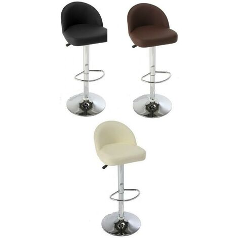 Lombardo Kitchen Bar Stool With Padded Back Height Adjustable