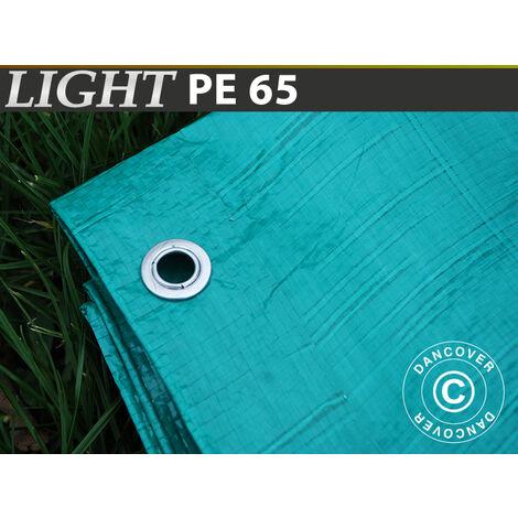 Lona 4x6m (6 piezas), PE 65g/m², Verde