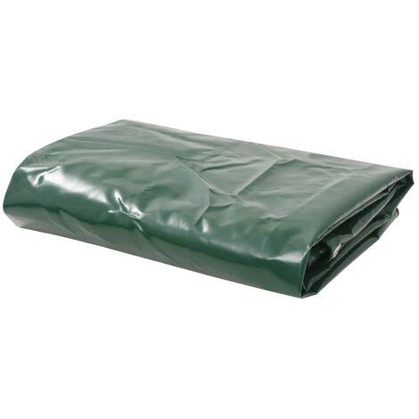 vidaXL Lona Protectora con Ojales 650 g//m /² PVC Toldo Cubierta Patio 6x8m Gris