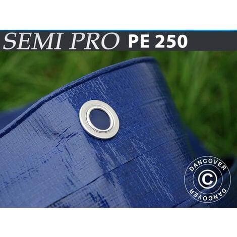 Lona 6x12m, PE 250g/m², Azul