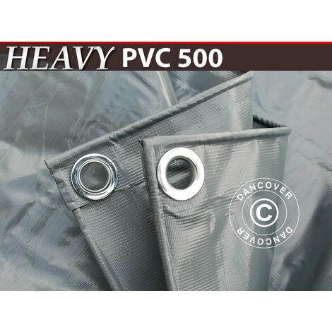 Lona 6x12m, PVC 500g/m², Gris
